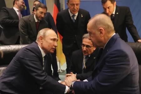 Кремль: Речи о двусторонней встречи Путина и Эрдогана 5 марта пока не идет
