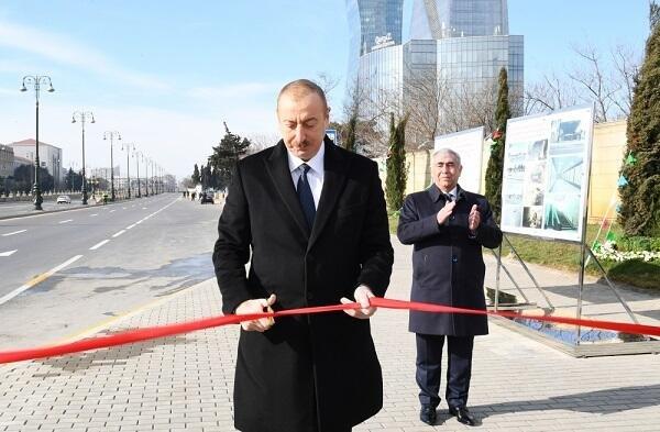 Президент на открытии подземного пешеходного перехода