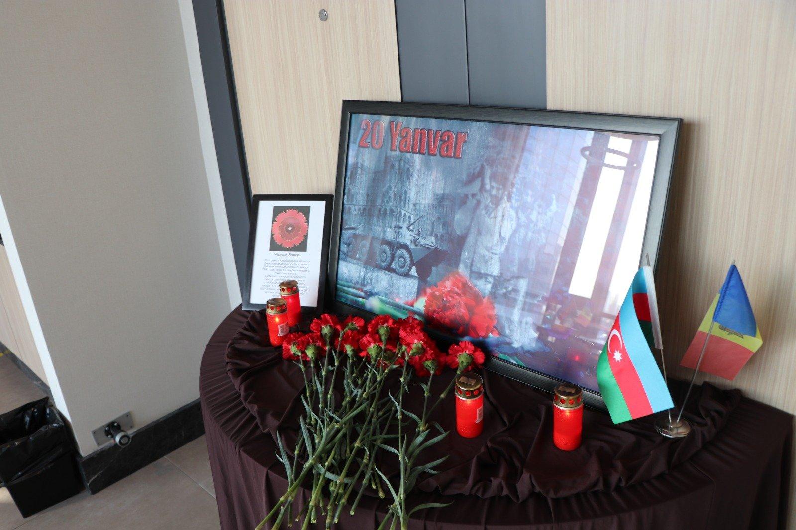 Азербайджанцы Молдовы почтили память жертв трагических событий в Баку