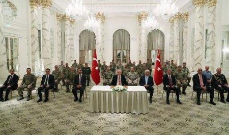 Эрдоган встретился с турецкими военными