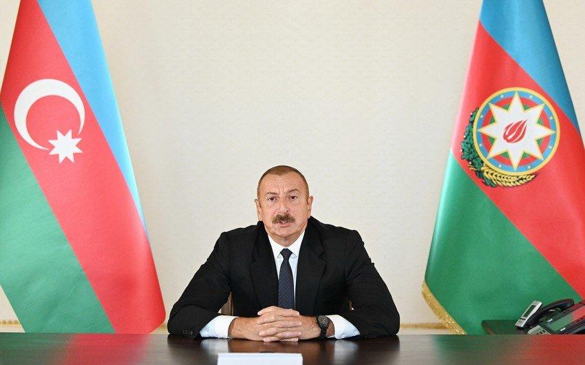 Президент Ильхам Алиев обратился к народу