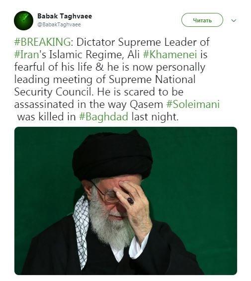 Ayətullah Xameneyi general Süleymani kimi öldürüləcəyindən qorxur?