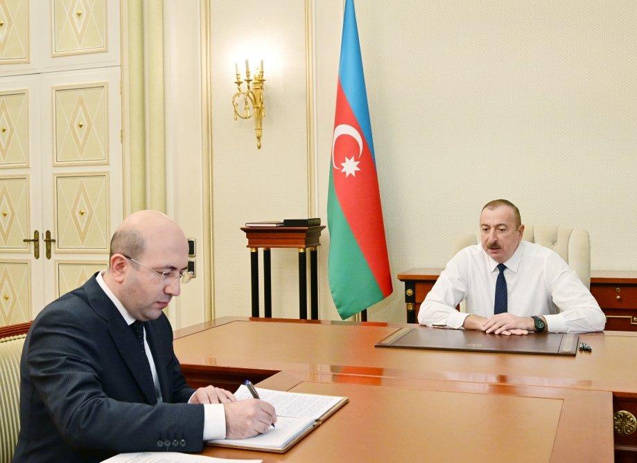 İlham Əliyev yeni sədri qəbul etdi