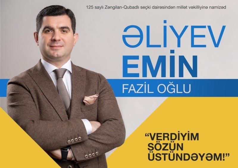 Emin Fazil oğlu Əliyevin Seçki platforması