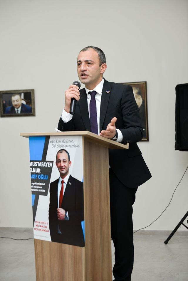 Elnur Mustafayev  seçicilərlə möhtəşəm görüş keçirib