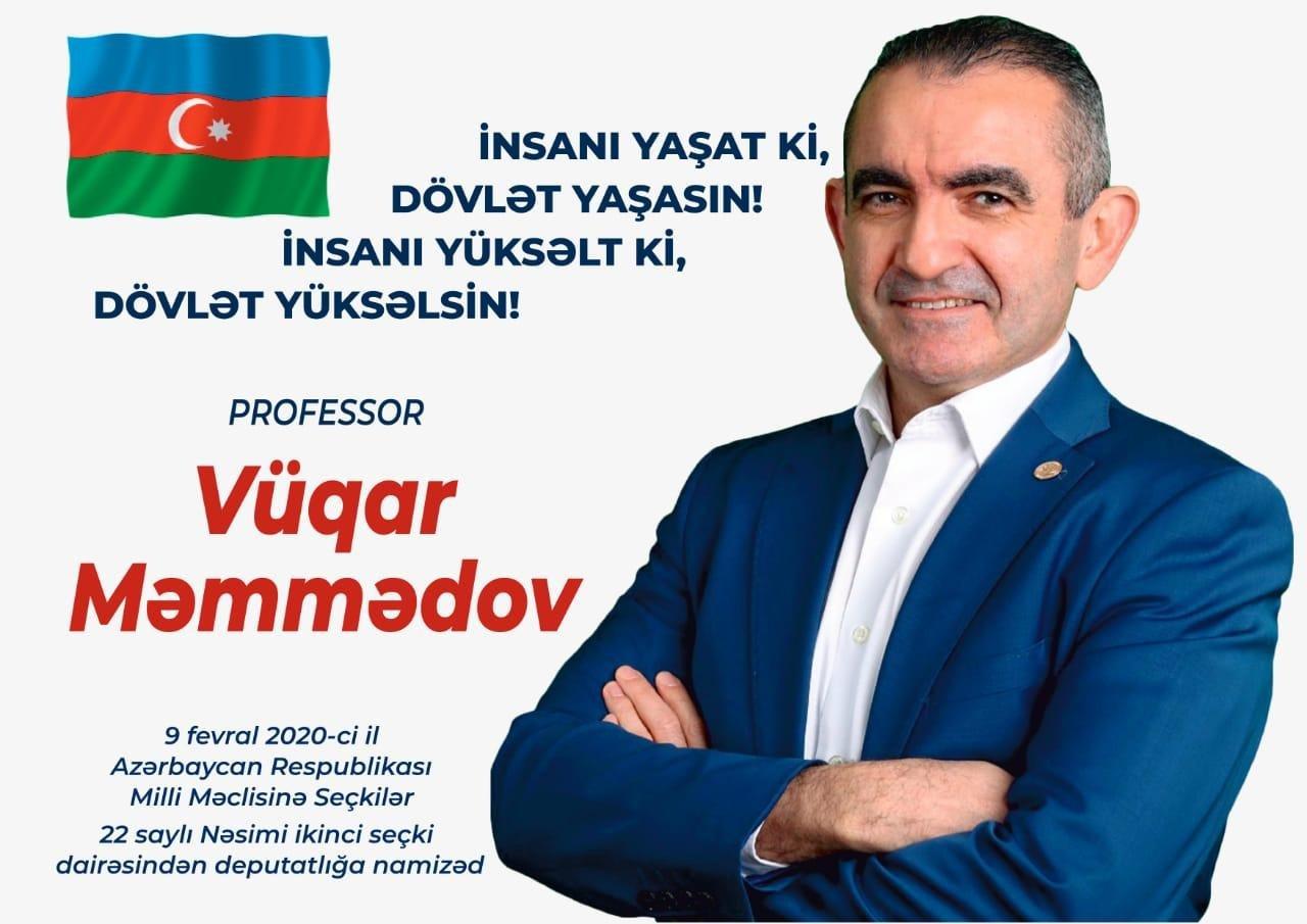 Professor Vüqar Məmmədov ziyalıların nəzərində
