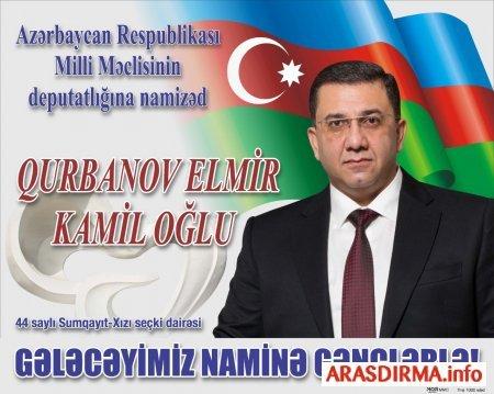 44 saylı Sumqayıt-Xızı seçki dairəsindən ən iddialı namizəd Elmir Qurbanov
