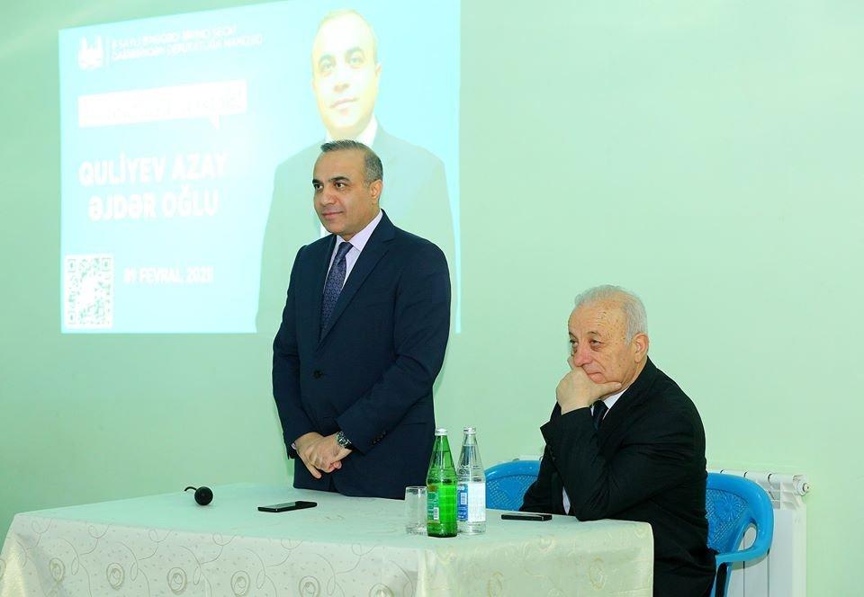 Azay Quliyev seçicilərin müraciətlərini dinlədi - FOTOLAR