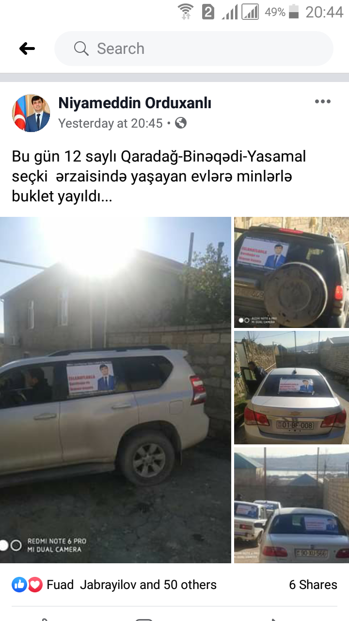 Niyaməddin Orduxanlı seçicilərlə görüşə başlayıb