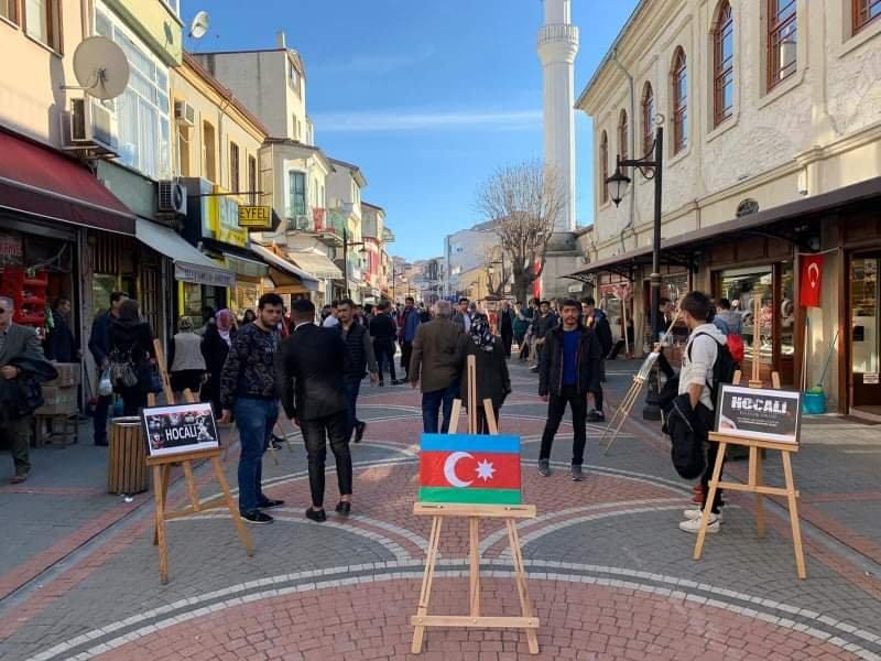 Bartində Xocalı soyqırımı anılıb - Fotolar