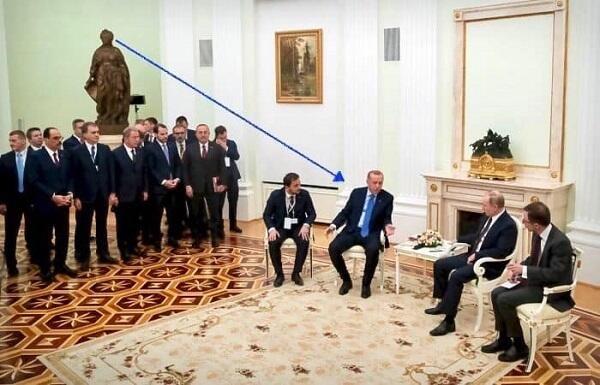 Ərdoğanla Putinin görüşdüyü zalda 2 şok nüans - Video