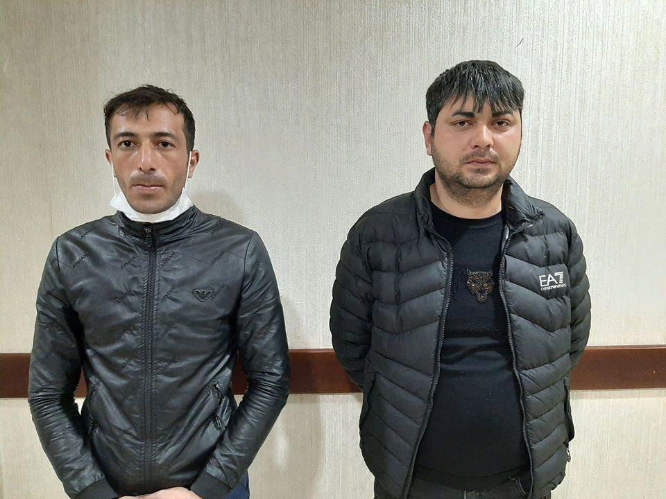 """Bakıya maşının """"baqaj""""ında girmək istəyən şəxslər saxlanıldı - FOTO"""