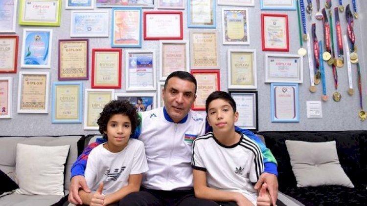 Azərbaycan çempionu 2 oğlu ilə birlikdə karantinə alındı