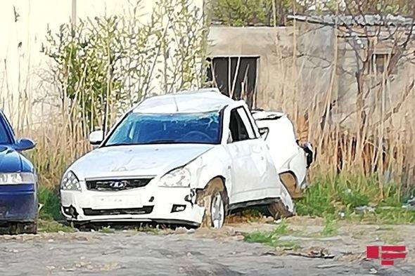 Sumqayıtda yol polisi əməkdaşı qəza törətdi, özü və həyat yoldaşı xəstəxanalıq oldu - FOTO