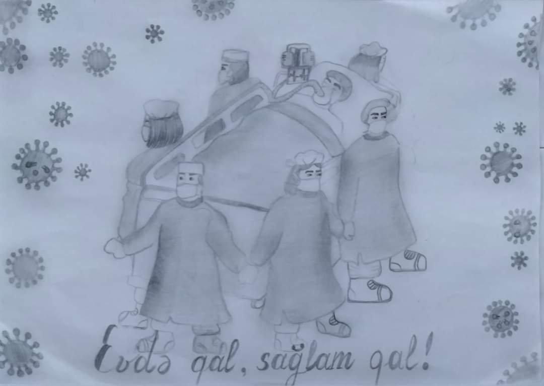 """""""Biz birlikdə güclüyük!"""" mövzusunda online rəsm müsabiqəsinə yekun vurulub - Siyəzəndə"""