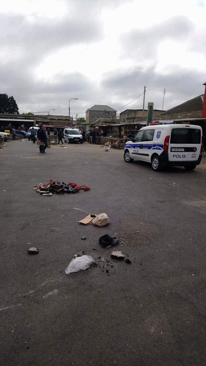 Polis bazarı bağlayıb - Əməliyyat davam edir - Fotolar