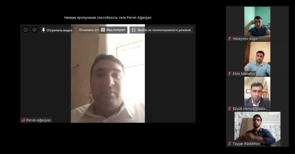 """Siyəzəndə """"Şərqin ilk demokratik respublikası və onun tariximizdə yeri"""" mövzusunda videokonfrans keçirilib"""