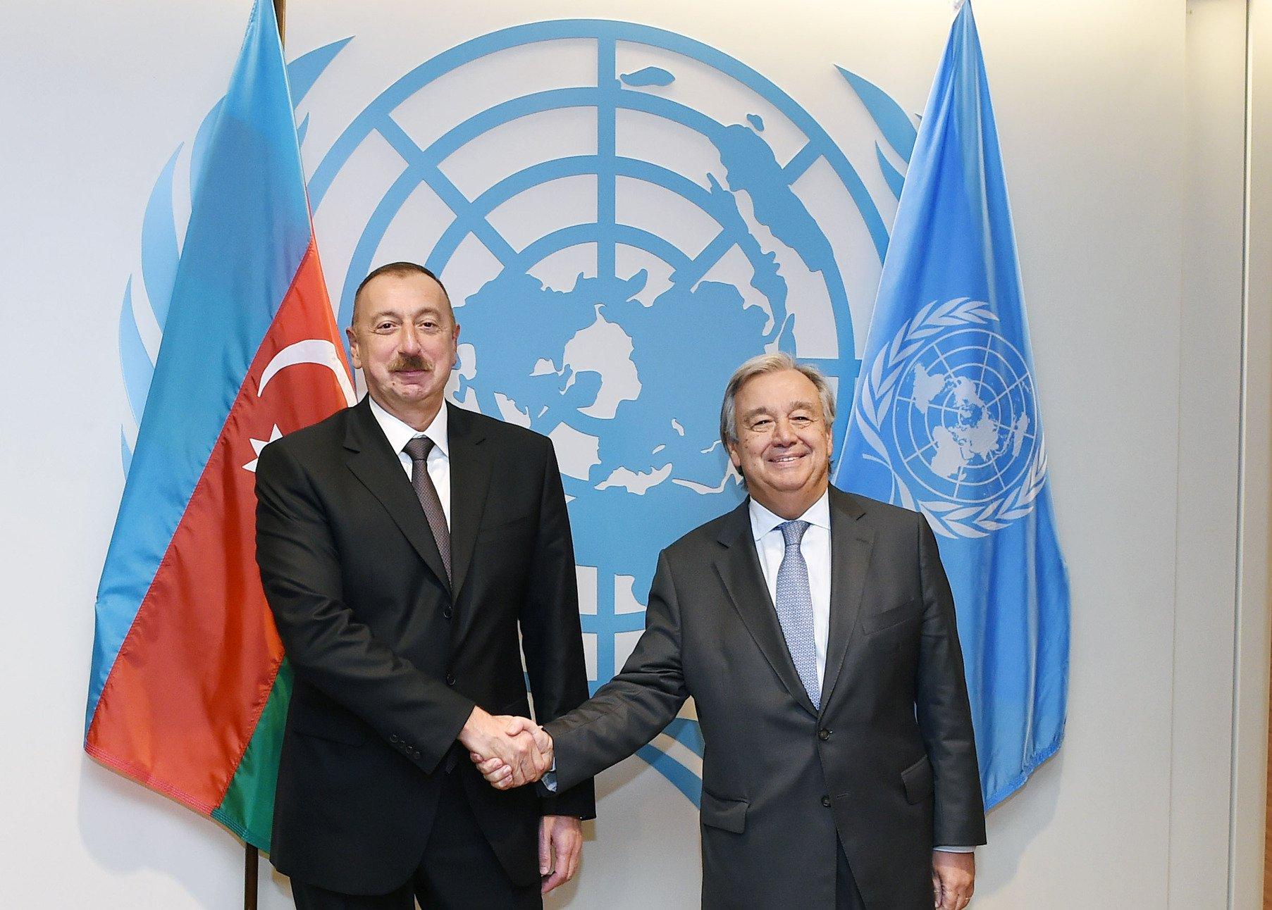 BMT Baş katibi Azərbaycan Prezidentini təbrik etdi