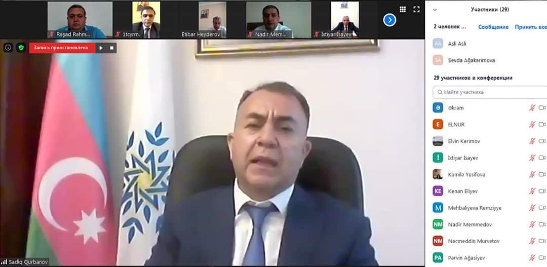 Komitə sədri YAP-ın Siyəzən rayon təşkilat rəhbərliyi ilə onlayn konfrans keçirib