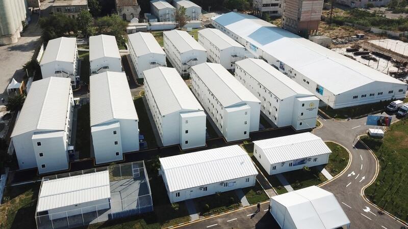 Prezident və xanımı Bakıda modul tipli hospitalın açılışında