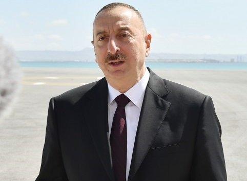 İlham Əliyev Balakənə getdi