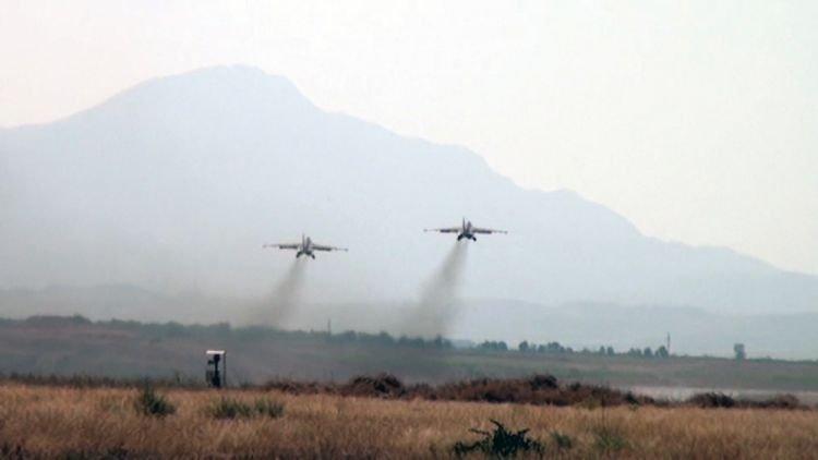 Düşmənə məxsus Su-25 təyyarəsi məhv edildi
